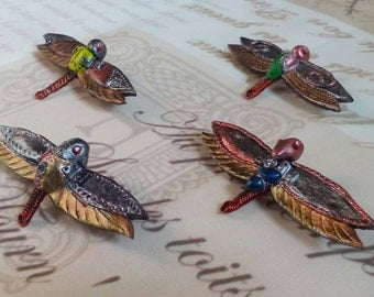 Steampunk mechanical Dragonfly brooch