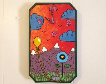 Working painted clock 7X12