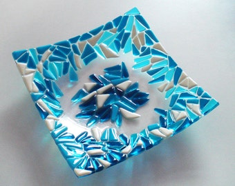 Fused glass bowl FROST
