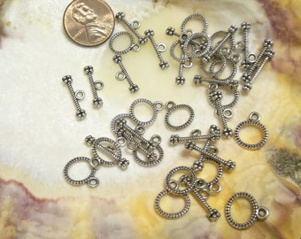 20 sets: Antique Silver Toggles, Lead and Nickel Free (A5.1)