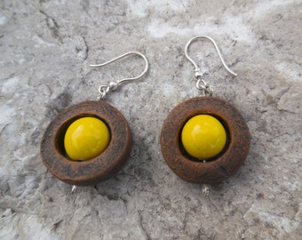 Terracotta and Ceramic ceramic earrings earrings, ceramic art, ceramic jewellery