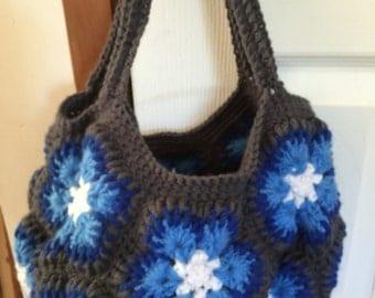 Star Flower Crochet Tote