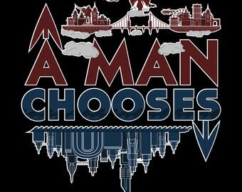 Bioshock T-Shirt - A Man Chooses, A Slave Obeys