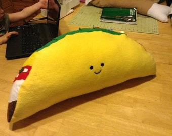 Happy taco pillow