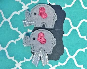 Elephant girl hair clip / barrette