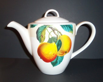 Tea Pot - Pears and Leaves