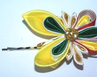 pin butterfly, hairpin, pin, hairpin kanzashi, kanzashi, butterfly, butterfly kanzashi, gift, free shipping