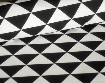 Decoration fabric black with white triangles