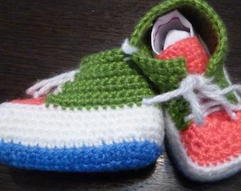 Baby knitted socks-sneakers