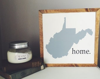 West Virginia home wooden sign