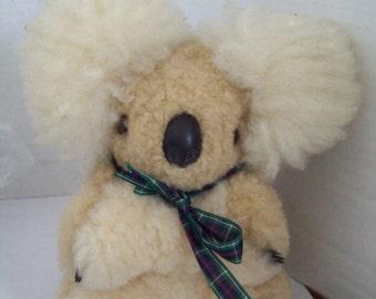 Vintage Ausfurs Koala Bear Original Tags 1990's Made in Australia
