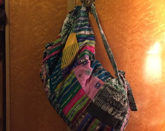 Vintage Ethnic patchwork backpack