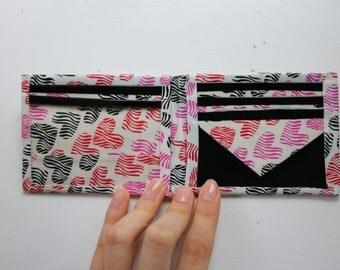 Heart Duct Tape Bifold Wallet