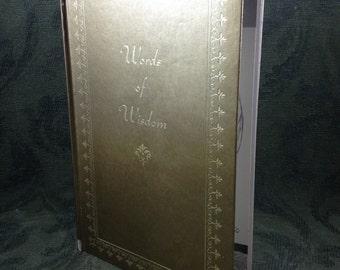 Words Of Wisdom Book By J.G. Furguson Publishing Co. 1966