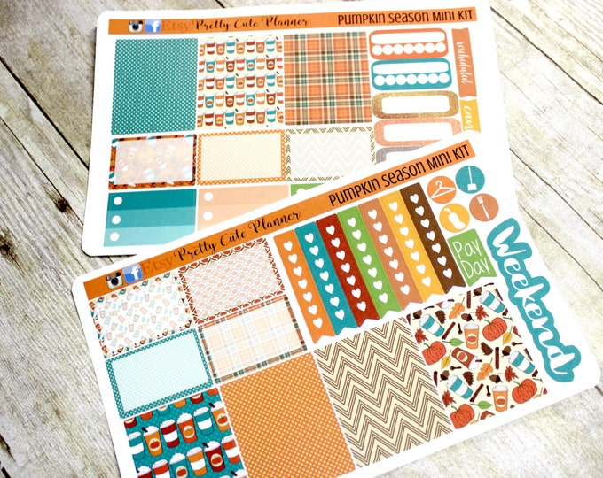 Planner Stickers - Weekly Planner Sticker Set - Erin Condren Life Planner - Happy Planner - Day Designer- Functional stickers  Pumpkin Spice