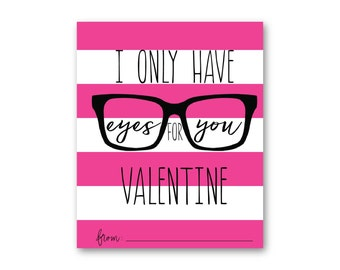 Eyes for You Valentine Pink 4x6