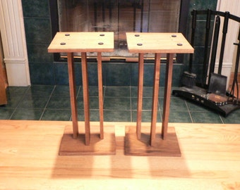 Audio Speaker Stands Handcrafted Solid Wood 28 Inches High