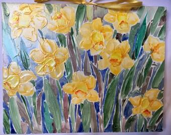 Fiori dipinti etsy for Quadri fiori olio