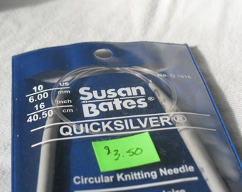 "Circular Knitting Needle Size 10 US/6.00mm 16"""
