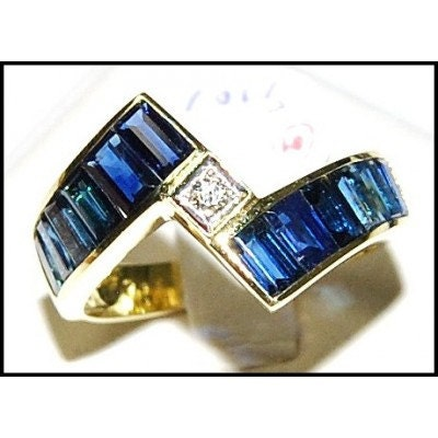 Blue sapphire for men genuine diamond 18k yellow gold by for Sapphire studios jewelry reviews