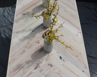 Chevron Pallet Board Hairpin console table
