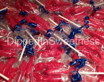 Lobster chocolate lollipops - 1 dozen