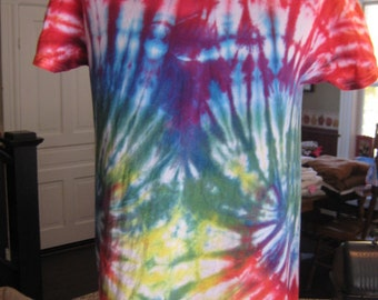 Unique Double-Swirl Rainbow Tie-Dye Shirt~Pride Month~LGBTQ~Men's M