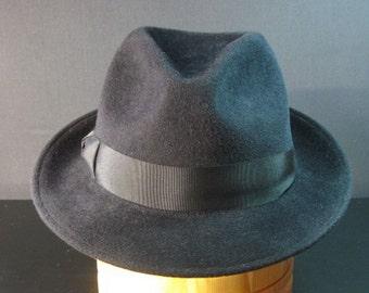 "Felt Hat ""Trilby"", men's fedora hat in gray, Classic Fedora Hat"