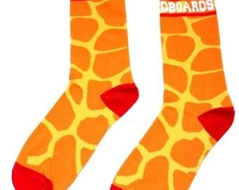 Dojo Shredboards Socks Giraffe Orange and Red