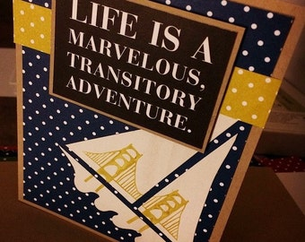 Stencils and Quotes, Mix + Match, Single Card