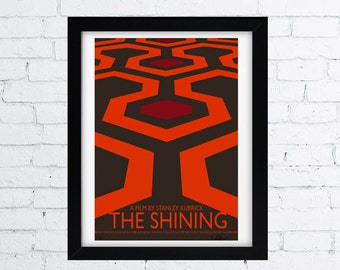 THE SHINING - A film by Stanley Kubrick - Minimal movie poster - signed limited edition