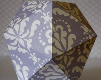 Decorative paper ball - Purple arabesque pattern