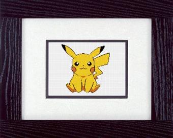 Pikachu Cross Stitch Pattern - PDF - Instant Download