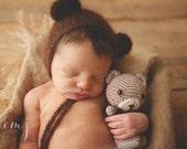 Newborn Photo Prop, Newborn Boy, Newborn Boy Props, Newborn Props, Teddy Bear Hat, Baby Hat, Teddy Bear Prop, Newborn Teddy Bear Prop, Props
