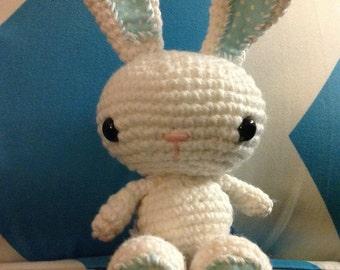 Crochet baby boy bunny, Easter bunny, Easter toy, stuffed bunny, stuffed animal
