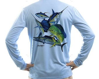 KEVIN BRANT Offshore Montage Men's UPF Performance T-shirt (X-Large)