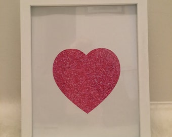 Pink Heart Wall Art