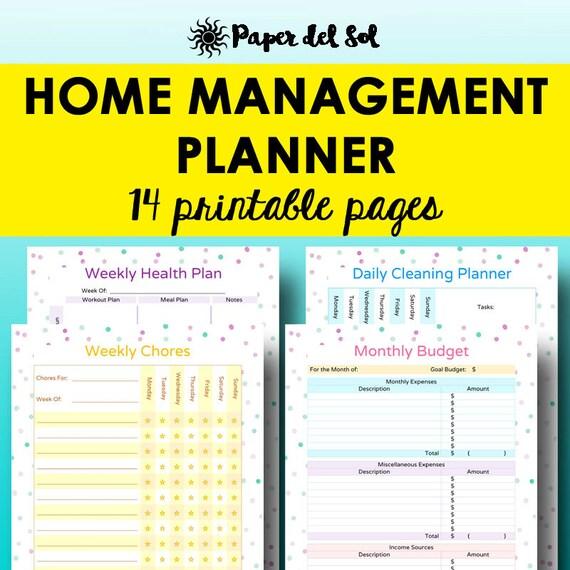 House management planner home organization binder printables for Home planning binder