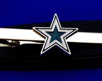 Dallas Cowboys tie clup NFL Football Logo Tie Bar Cowboys Tie Clip Tie Clasp