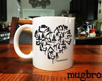 Yoga Heart Namaste Coffee Mug