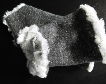 Warmers Ella gray wool on faux fur