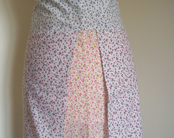 Ditsy Pinny Apron, shabby chic kitchen, retro apron, Mother's Day gift
