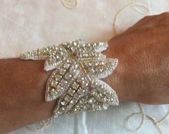 Gorgeous Bling Rhinestone Wedding Bridal Cuff