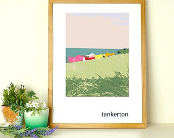 Colourful Tankerton Slopes Giclee Print
