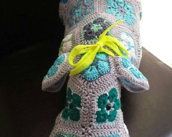SALE!!  Happy hippo crochet blue grey green White. With safetyeyes. Made by CreaCi. handmade ready to ship