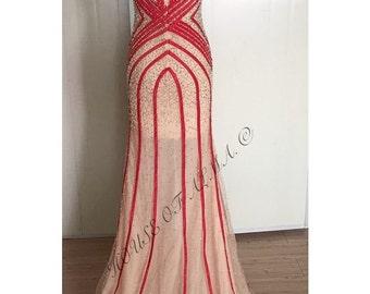 Gigi beaded Tulle Gown
