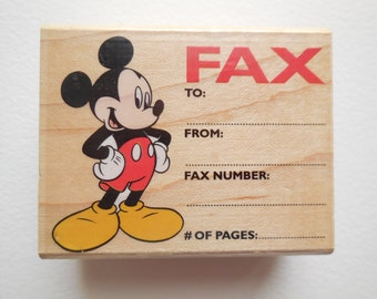 MICKEY MOUSE Rubber stamp - Fax stamp - Disney Stamp