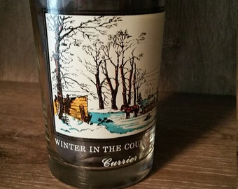 Vintage 1978 Arby's Collector's  Series Currier & Ives Glasses