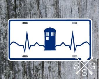 Dr Who Tardis Beat License Plate car tag