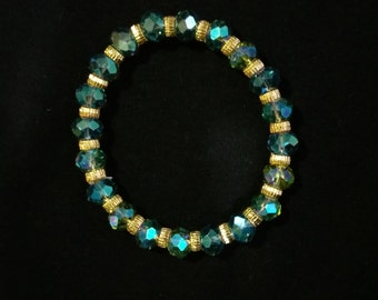 RENEWED 50% OFF Natural stone bracelet with golden beads